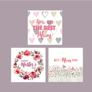Floral Mothers Day Square Vinyl Label Pack