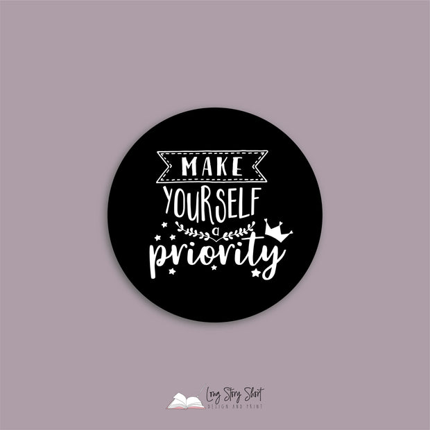 Make yourself priority Black Vinyl Label Pack