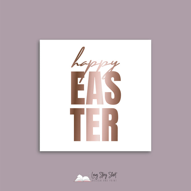 Foiled Happy Easter #1 Vinyl Label Pack