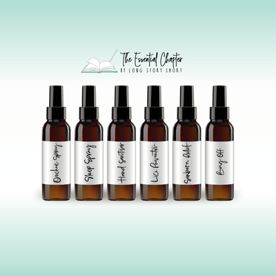 Black/White Essential Oil Spray Bottle Vinyl Label Pack