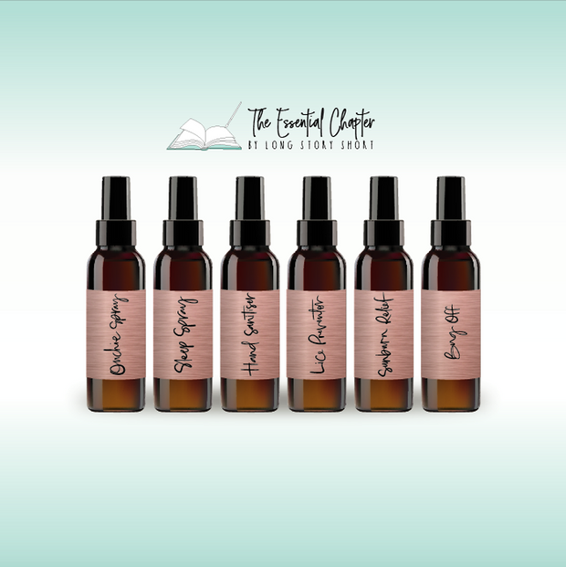 Essential Oil Spray Bottle Specialty Vinyl Label Pack