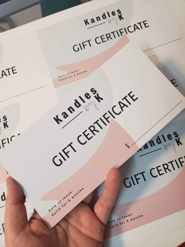 DIGITAL Custom Branded Gift Certificates