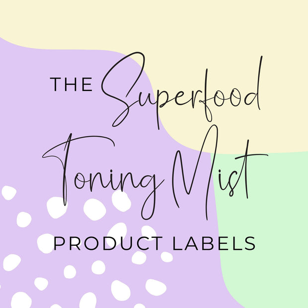 Superfood Toning Mist Product Labels (x 10 labels)
