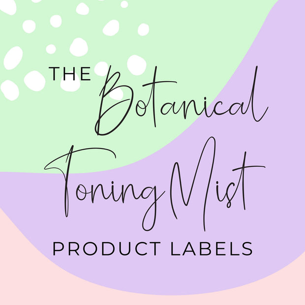 Botanical Toning Mist Label Product Labels (x 10 labels)
