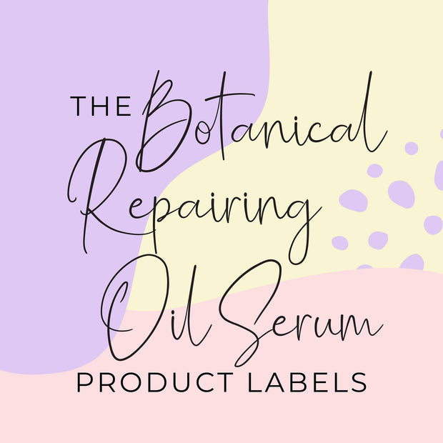 Botanical Reparing Oil Serum Product Label (x 10 labels)