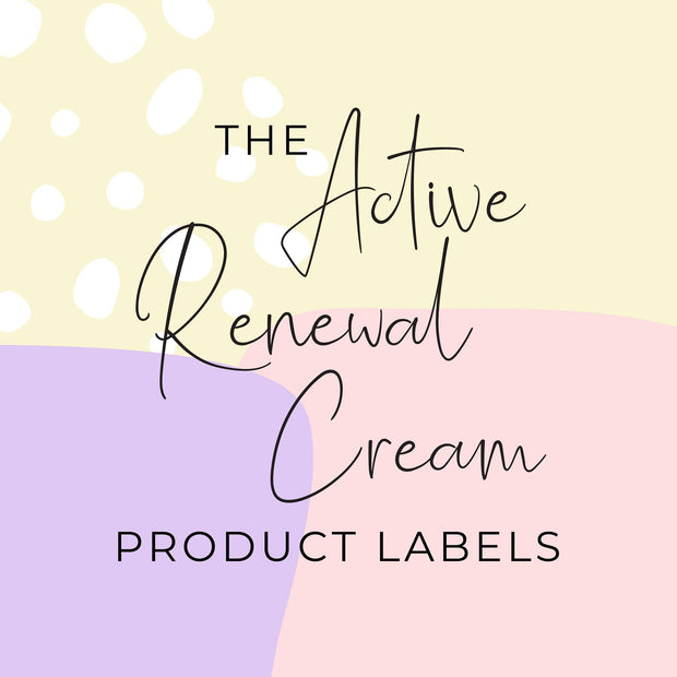 Active Renewal Cream Product Labels (x 10 labels)