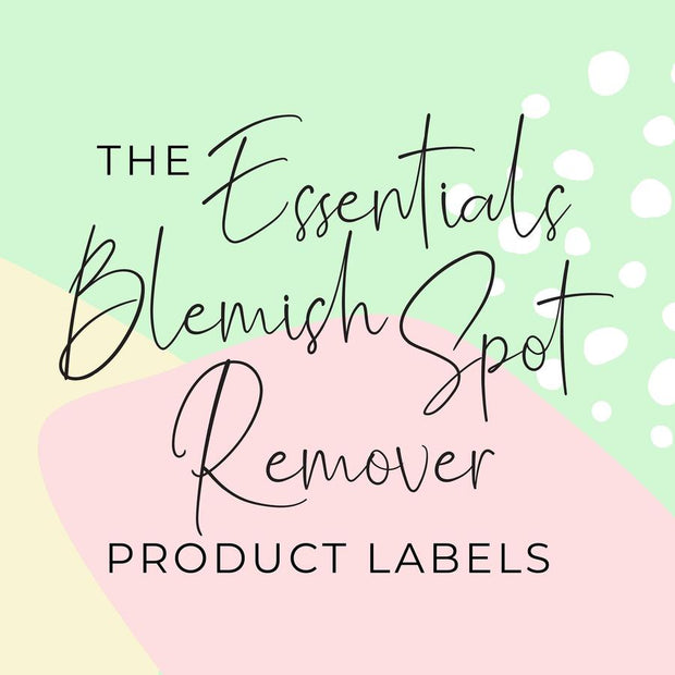Essentials Blemish Spot Remover Product Labels (x 10 labels)