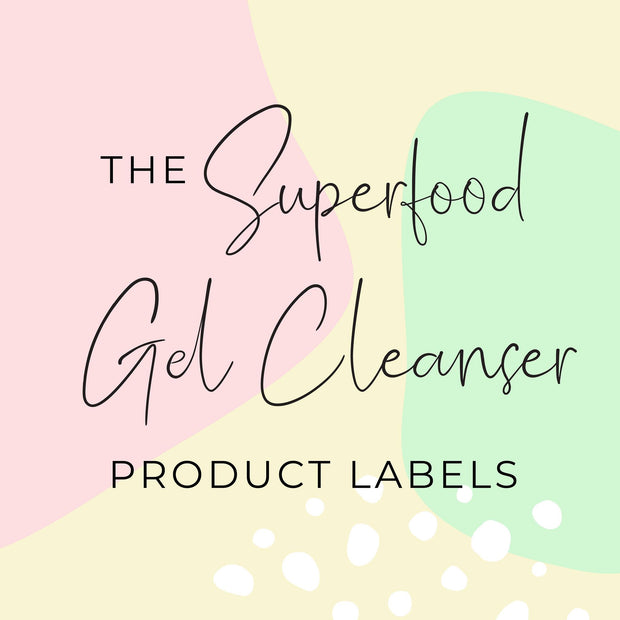 Superfood Gel Cleanser Product Labels  (x 10 labels)