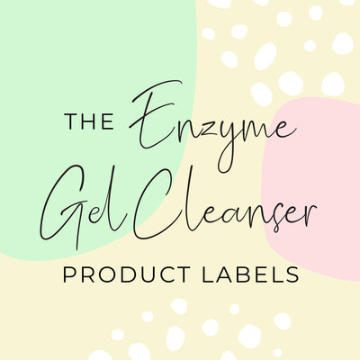 Enzyme Gel Cleanser Product Labels (x 10 labels)