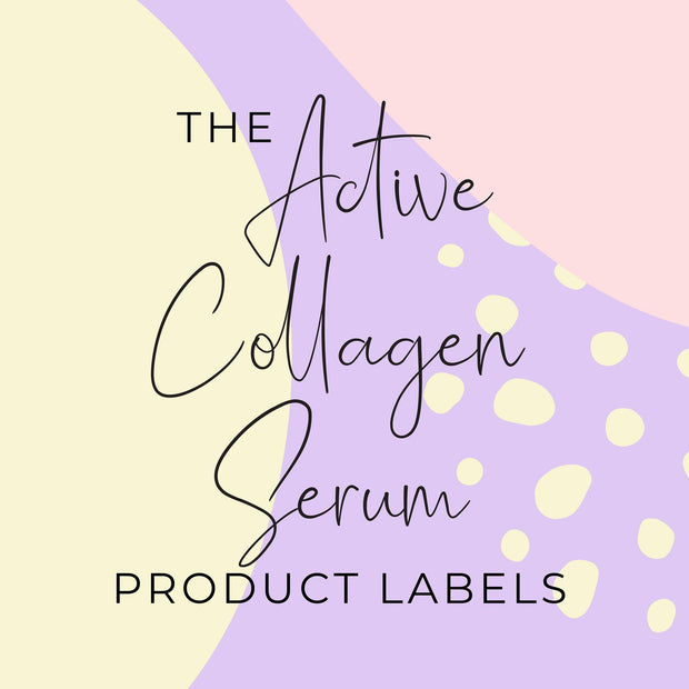 Active Collagen Serum Product Labels (x 10 labels)