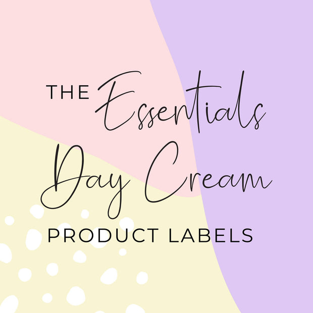 Essentials Day Cream Product Labels (x 10 labels)