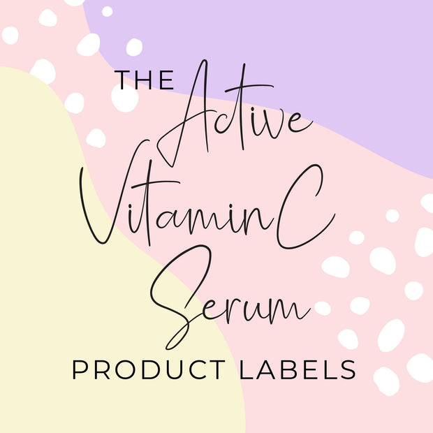 Active Vitamin C Serum Product Labels (x 10 labels)