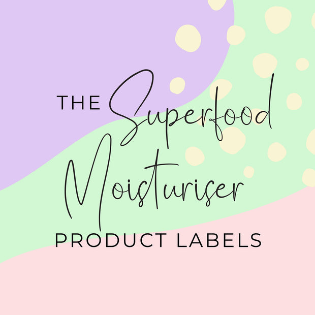 Superfood Moisturiser Product Labels (x 10 labels)