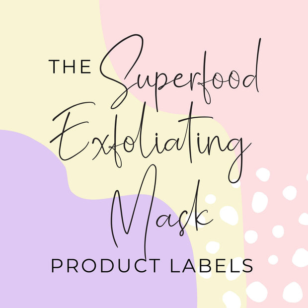 Superfood Exfoliating Mask Product Labels  (x 10 labels)