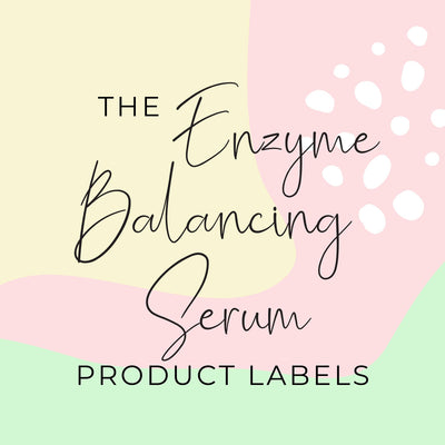 Enzyme Balancing Serum Product Labels (x 10 labels)