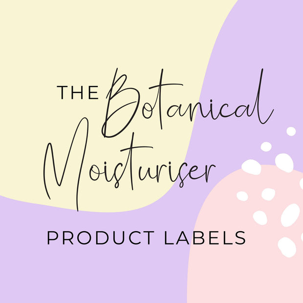 Botanical Moisturiser Product Labels (x 10 labels)