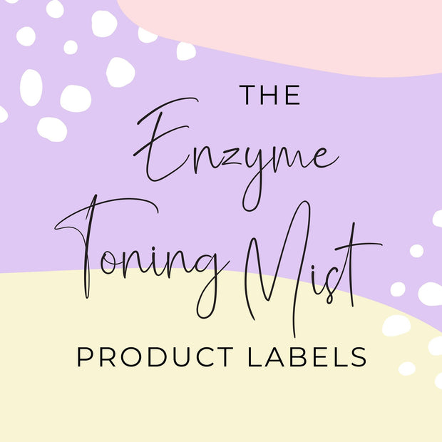 Enzyme Toning Mist Product Labels (x 10 labels)
