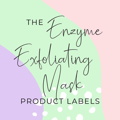 Enzyme Exfoliating Mask Product Labels (x 10 labels)