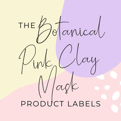 Botanical Pink Clay Mask Product Labels (x 10 labels)