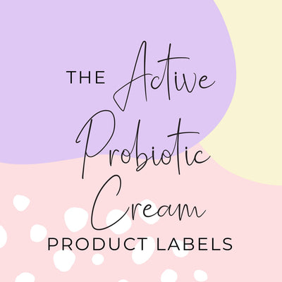 Active Probiotic Cream Product Label (x 10 labels)