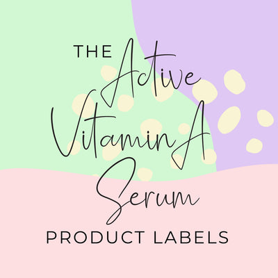 Active Vitamin A Serum Product Labels (x 10 labels)