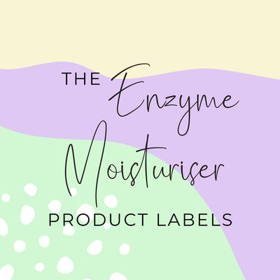 Enzyme Moisturiser Product Labels