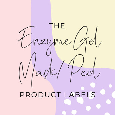 Enzyme Gel Mask / Peel Product Labels (x 10 labels)