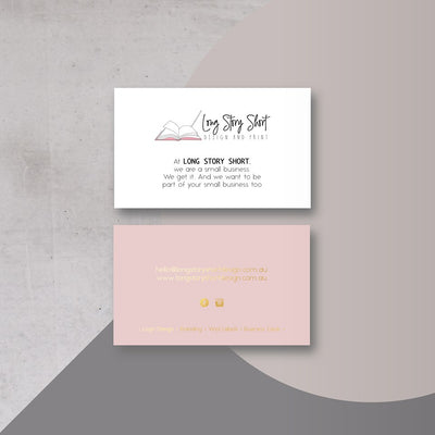 Foiled (Gold/Silver/Rose Gold) Business Cards