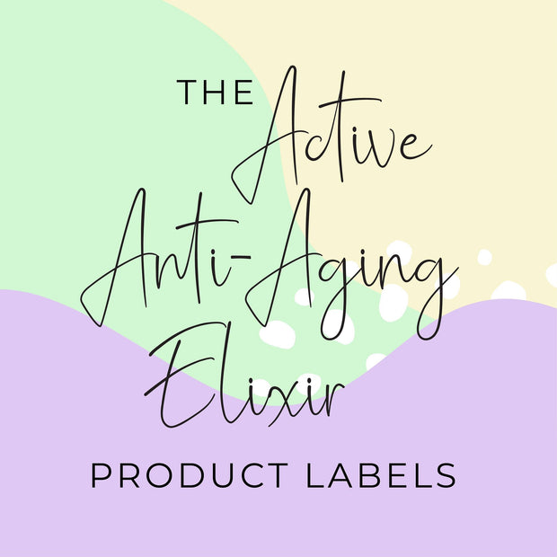 Active Anti-Aging Elixir Product Labels (x 10 labels)