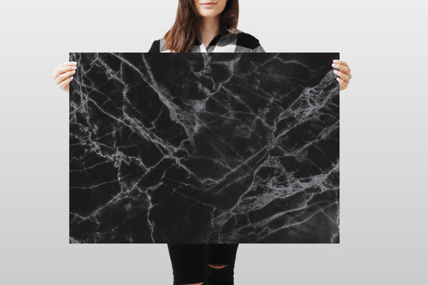 Photography Backdrop - Black Marble