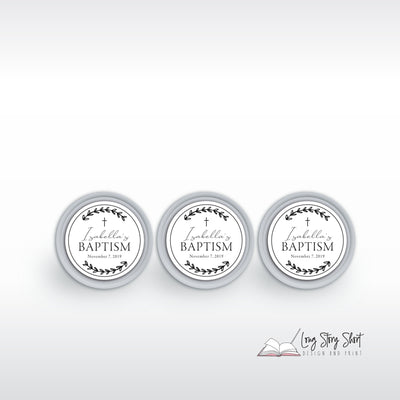 Baptism/Christening Celebration Customisable Specialty Vinyl Label Pack