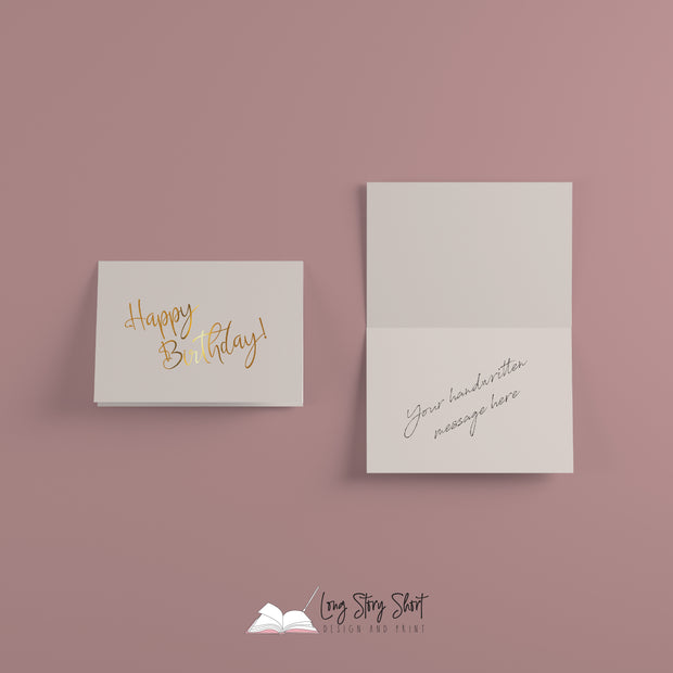 Gold Foiled Greetings Card - Happy Birthday