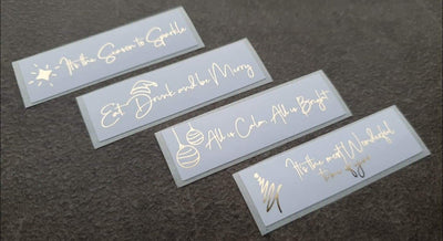 Gold Foiled Christmas Renee Labels
