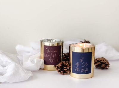 Rose Gold Foiled Merry Christmas  Label Pack