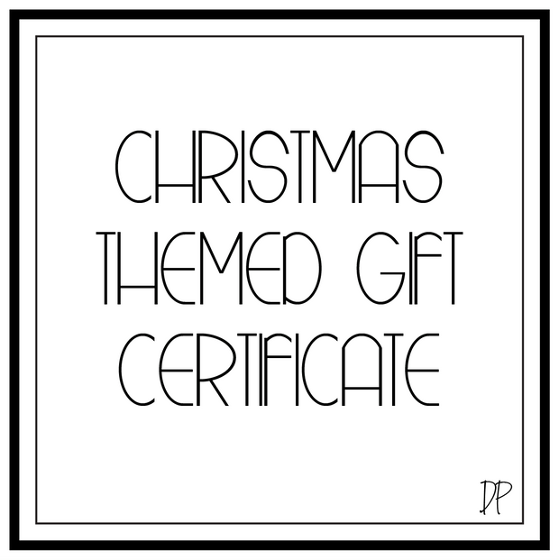 Christmas Themed Gift Certificate