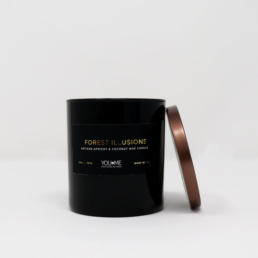 Forest Illusions Glass Candle
