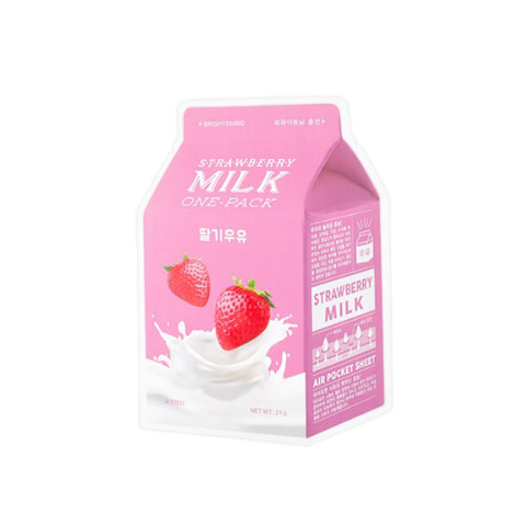 K Beautie: A'pieu Strawberry Milk (5 Sheet Masks) - Sheet Mask - A'pieu