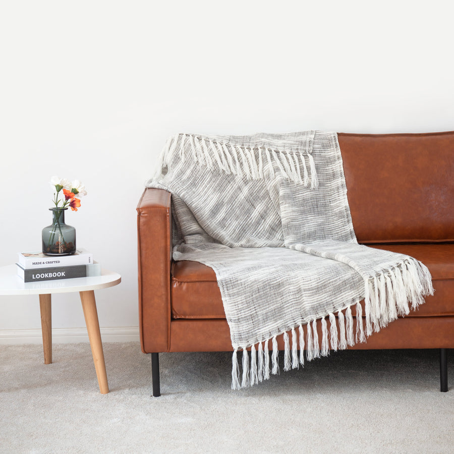 throw blanket with fringe