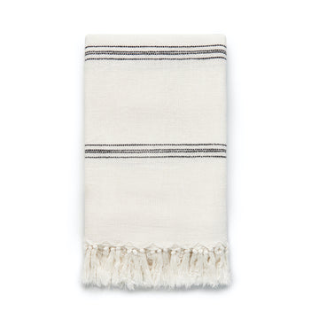 Modern Boho Throw Blanket, Turkish Stripes, 50