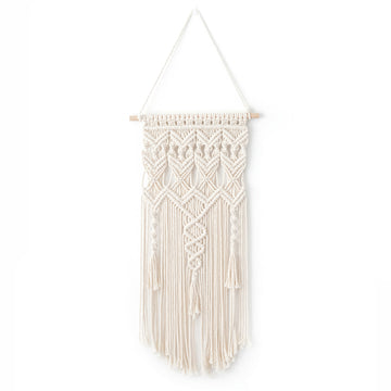 Macrame Handmade Wall Hanging Tapestry, Bohemian Chic Knitting Art, Handmade Cotton, 29