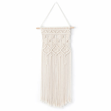 Macrame Handmade Wall Hanging Tapestry, Bohemian Chic Knitting Art, Handmade Cotton, 30