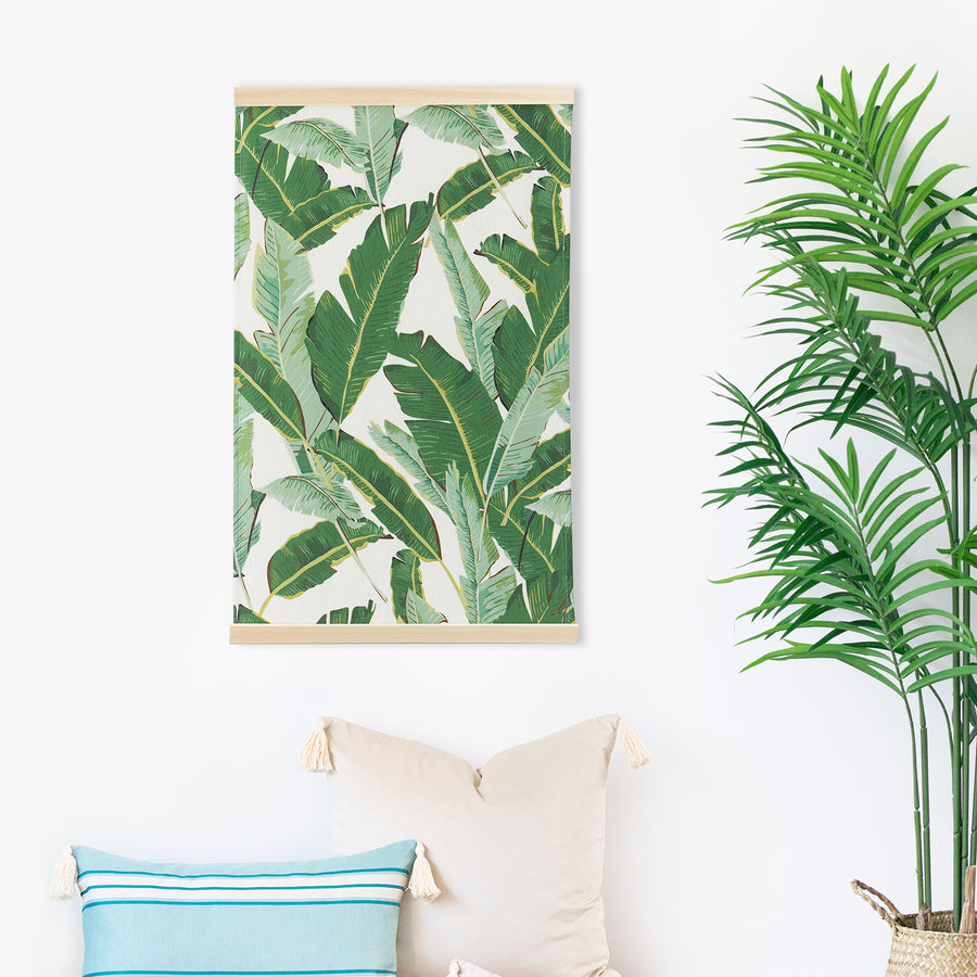 Tropical Wall Hanging, Palm Leaf, Green, 31