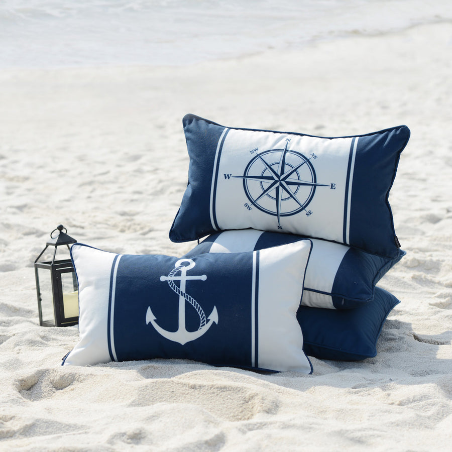 coastal outdoor pillow cases for sea and sail