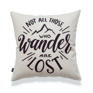 Pillow Cover, Not All Those Who Wander Are Lost, 18