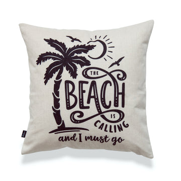 Coastal Pillow Cover, The Beach is Calling and I Must Go, 18