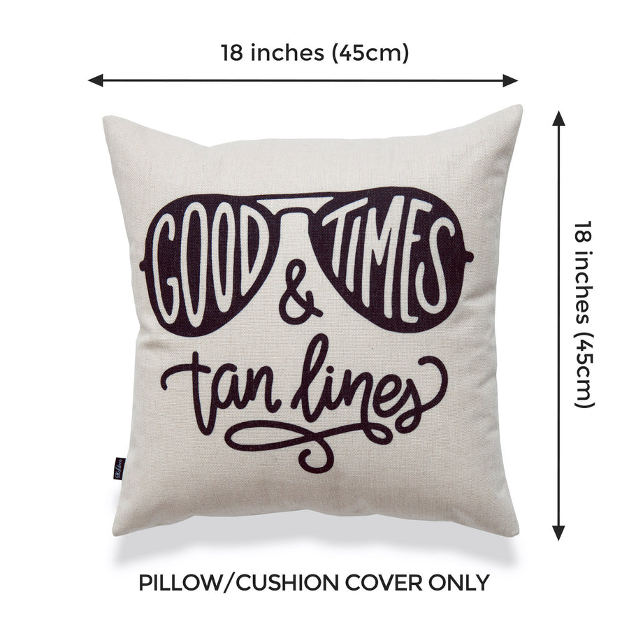 Coastal Pillow Cover, Good Times & Tan Lines, 18