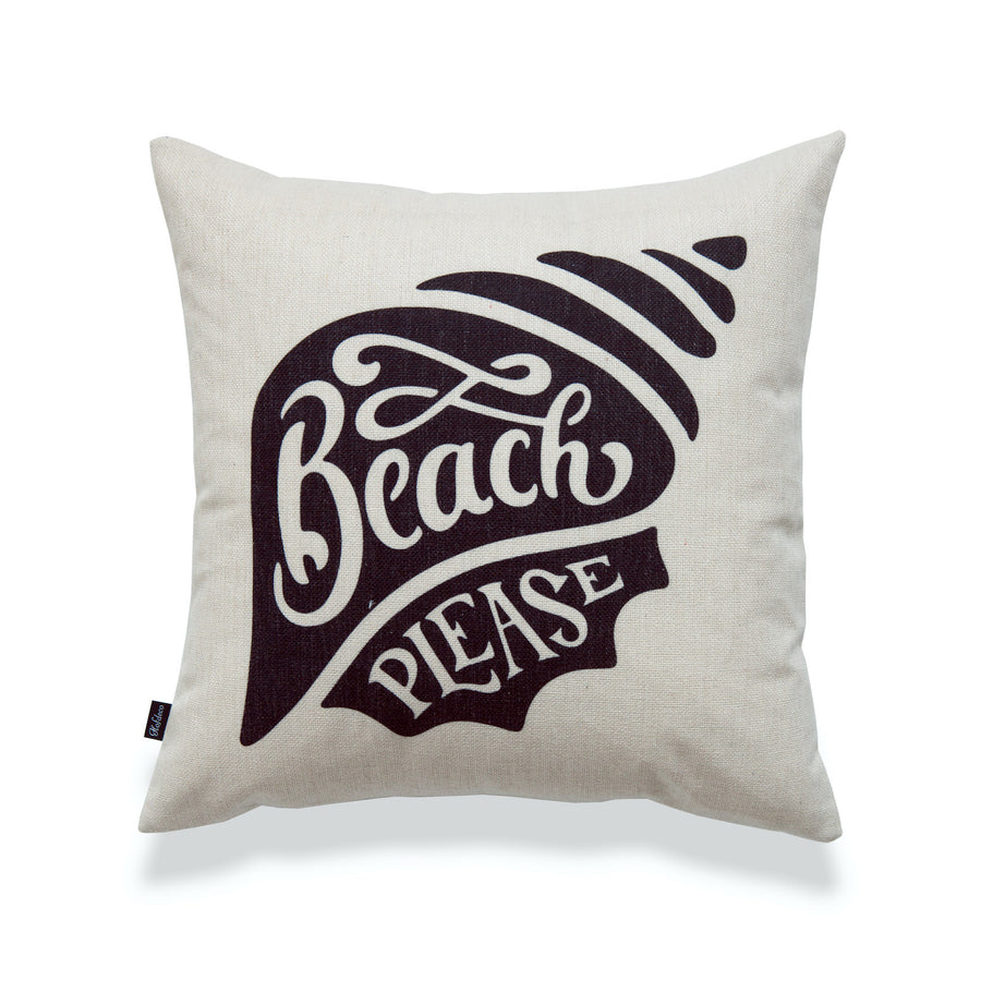 Coastal Pillow Cover, Beach Please, 18