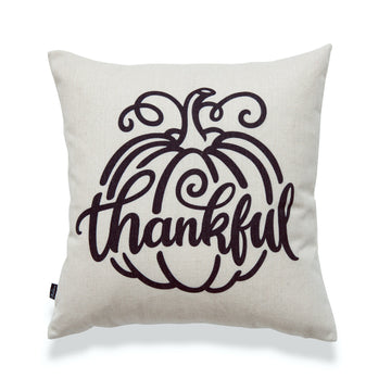 Fall Pillow Cover, Thankful, 18