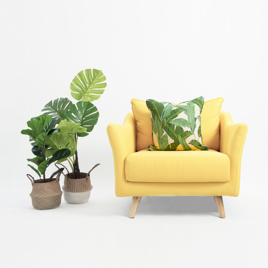 Tropical Banana Leaf Pillow Cover, 20