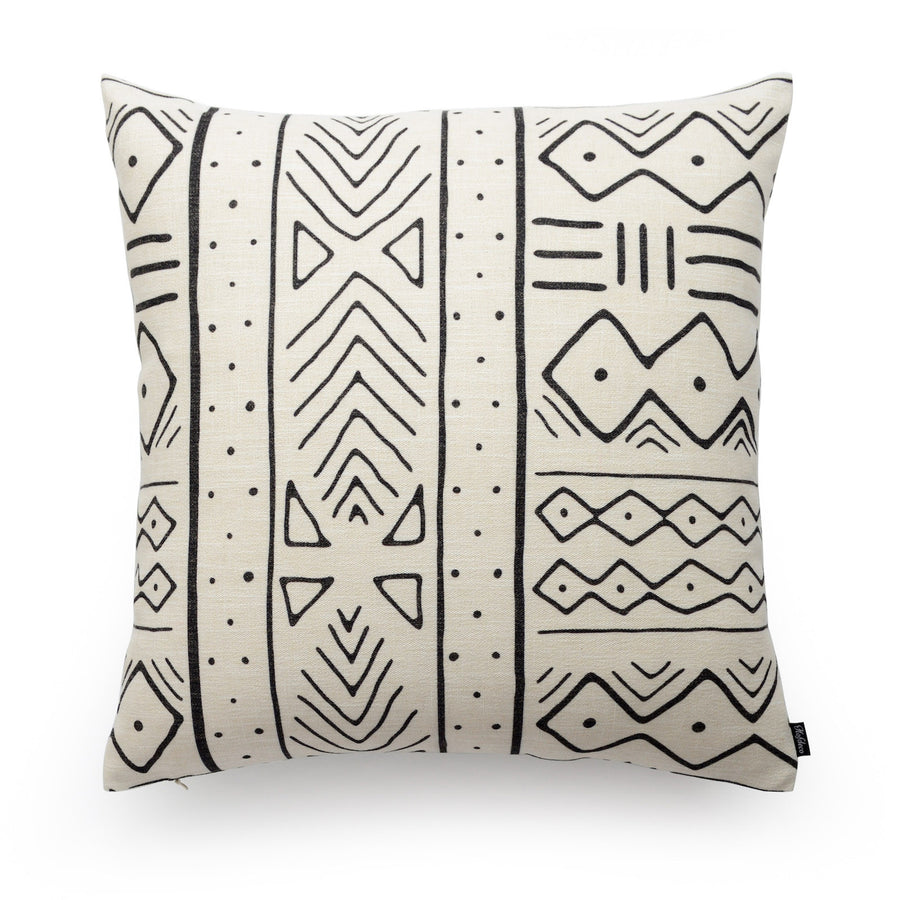 shibori mudcloth pillow cover